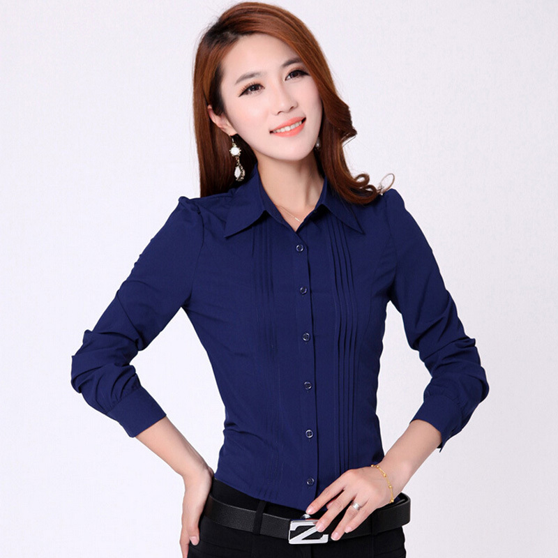 Promotion-Lady-Fashion-White-Career-Shirt-2015-New-Korean ...
