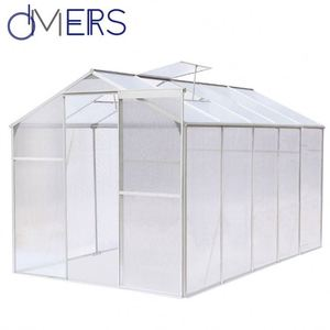 cheap commercial grow vegetables polycarbonate sheet agriculture green house for plastic