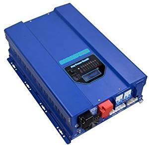SUNGOLDPOWER 6000W Peak 18000W Pure Sine Wave Power Inverter, Low Frequency Inverter DC 24V AC Output 110V Converter, With 60A MPPT Solar Charger Controller