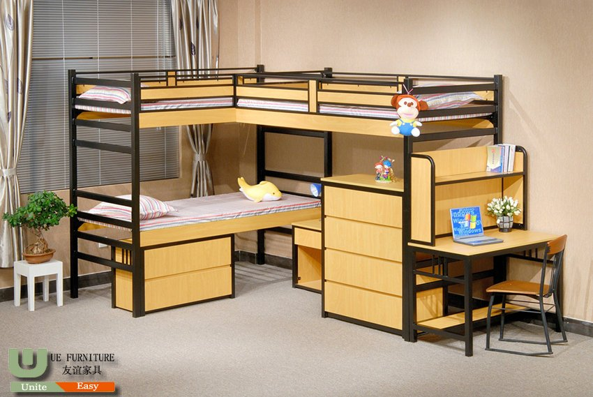 commercial school steel-wood dormitory furniture G40A