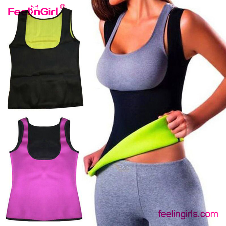 Plus Size New Women Body Shapers T-shirt Shapers Neoprene Slimming Vest Body Shaper Control Vest Tops Shirt