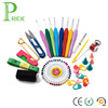 Set of 34PCS Crochet Lite Value Pack 8 Sizes Crochet Hooks Kit with Sewing Thread Pin Scissor Stitch Markers in Case
