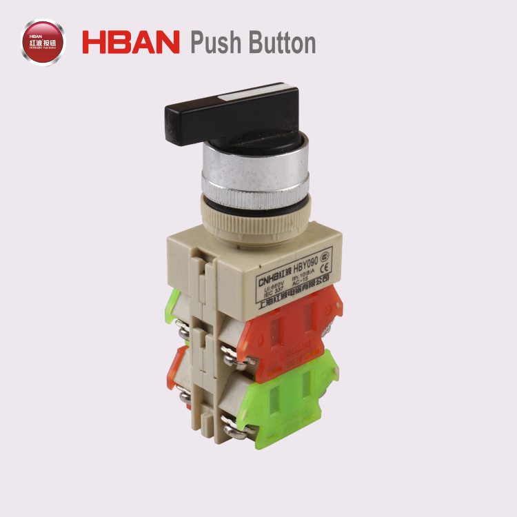22mm SPDT quality Plastic momentary selector on off switch
