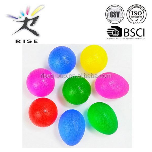 Egg shape gel stress ball