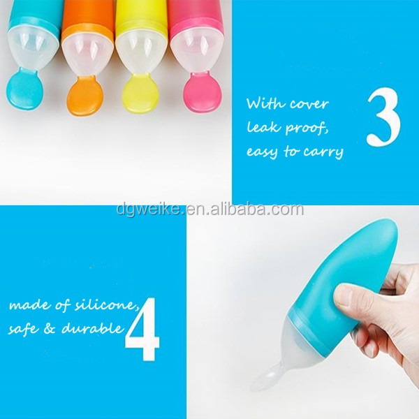 Newly Silicone Feeding Bottle Baby Feeder / Baby Feeding Bottle With Spoon From China Manufacturer