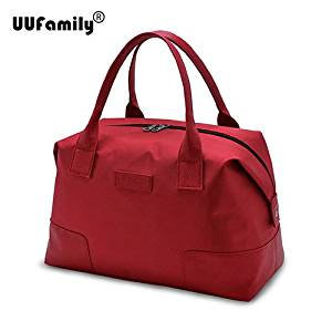 UU Family 2016 Oxford Autumn Travel Bag Weekend Bag Large Capacity Overnight Bag Men Waterproof Bag Women Duffel Travel Tote (red L)