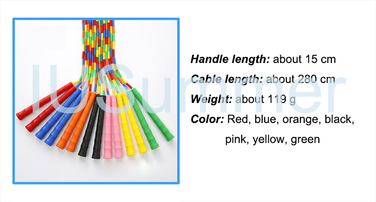 Colorful Long Handle Beaded Jump Rope Beads