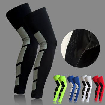 Custom Recovery Compression Leg Sleeves for sport Football Basketball Cycling Strech Silicone Leg Knee Long Sleeve