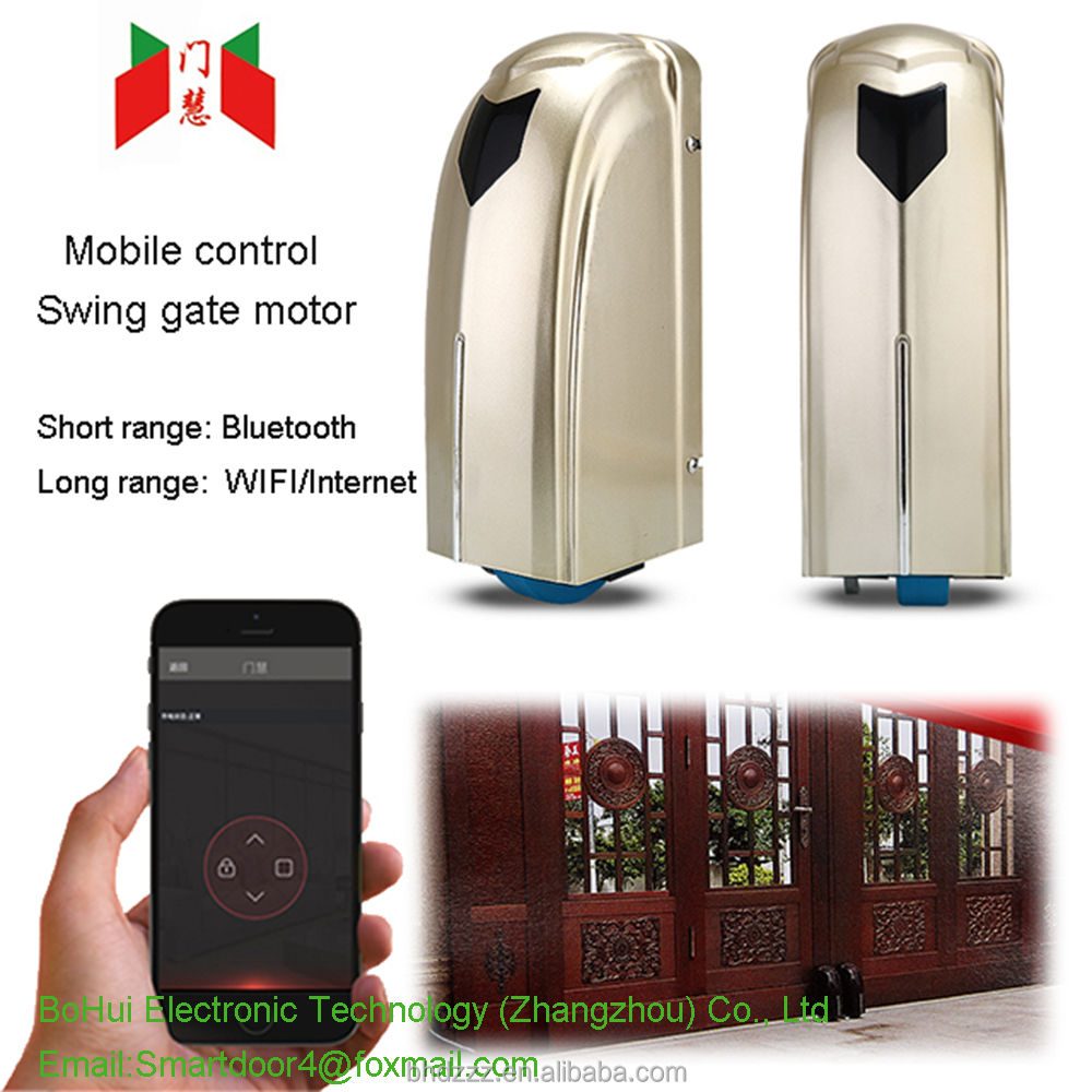 Manufacturer direct selling wireless bluetooth video control swing gate door motor AC/DC 220 V 600kg~2000kg