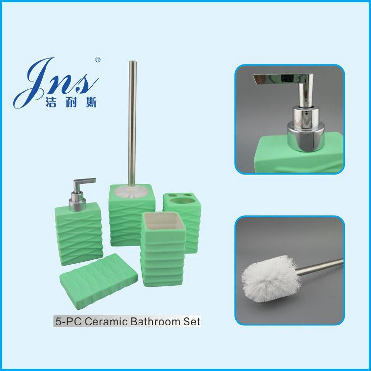 Bathroom Accessories Set With Toilet Brush, Bathroom Accessories ...