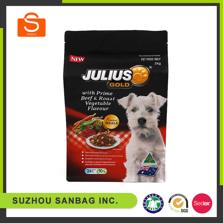 FDA Approved Custom Logo Printing Resealable Vacuum Sealing Zip Lock pet food bag
