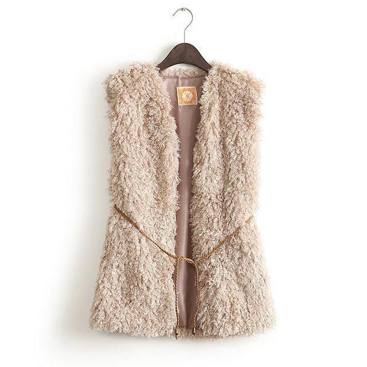 Women's Straight Seamed Wool Vest