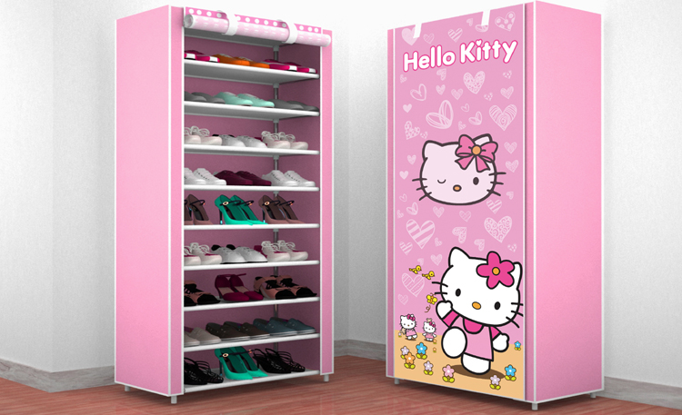 Modern shoe rack cover cabinet stainless steel shoes cabinet