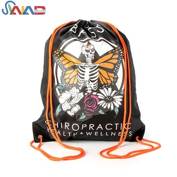 Wholesale OEM custom logo printing 210D polyester drawstring backpack bag