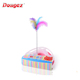 wholesale Intelligence Cat Tower new design triangle style Interactive crazy Plate Cat Amusement Toy with feather and Ball