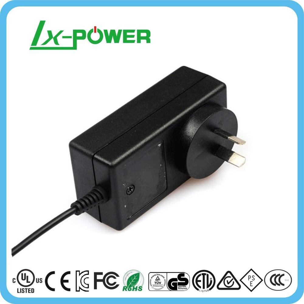 AC DC 12 volt 1.5 amp switching power supply adapter 30 watt 12V 1.5A with UL CE GS FCC KC SAA RoHS approved