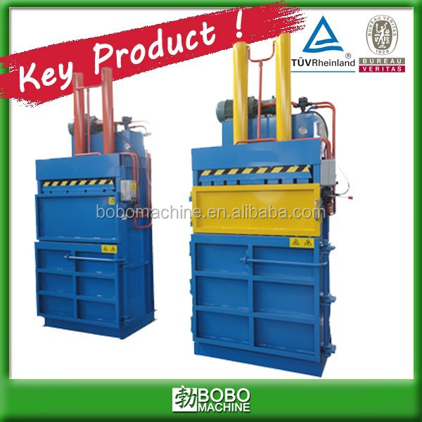 Waste plastic bottle press baler machine