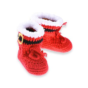3447390e5ea36 2018 rojo bebé niño de Navidad hechos a mano zapatos botitas de bebé Unisex