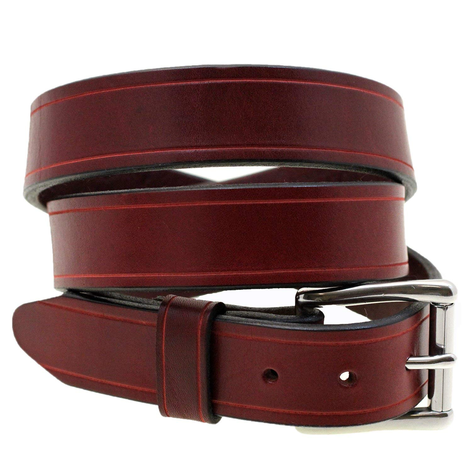 da4b465d674 Buy TANNER GOODS MADE IN USA LEATHER SKINNY BELT IN SADDLE TAN AND ...