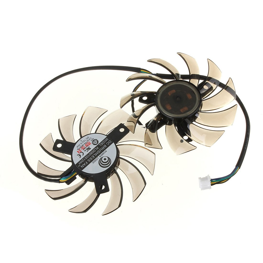 Graphics card Dual fans - TOOGOO(R) 75MM Graphics card Dual fans for MST GTX 460 580 R6870 R6950