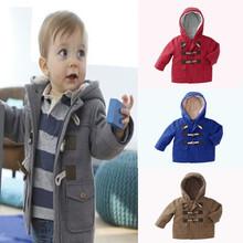 Novos Meninos 2016 Do Bebê Crianças Casaco outerwear Jaquetas de Moda Infantil para Meninas Jaqueta de Inverno Quente Com Capuz Crianças Roupas de Menino
