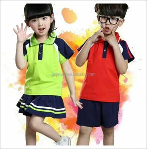 2017 Chinese Clothing Manufacturer Wholesale Custom Shool Uniform Polo Shirts Design