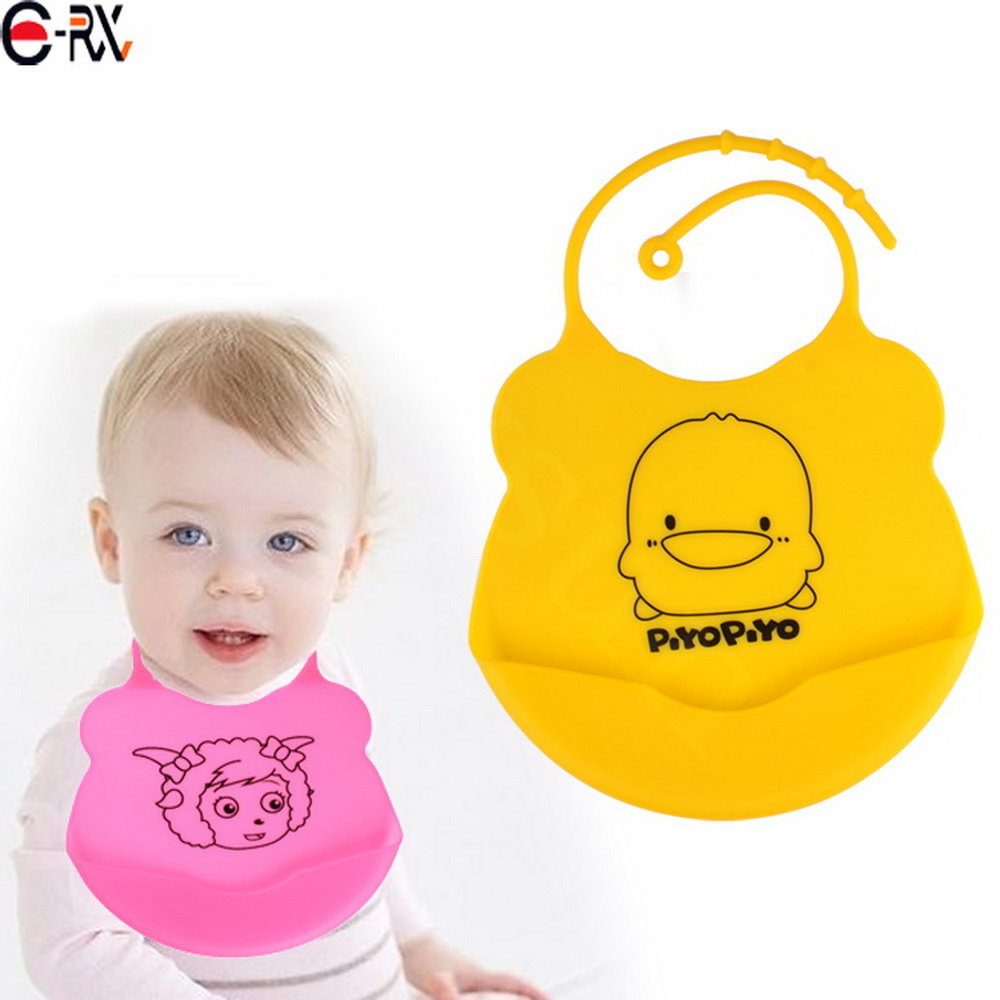 Factory Wholesale Price New Design Waterproof LOGO Customized Feeding Silicone Baby Bib
