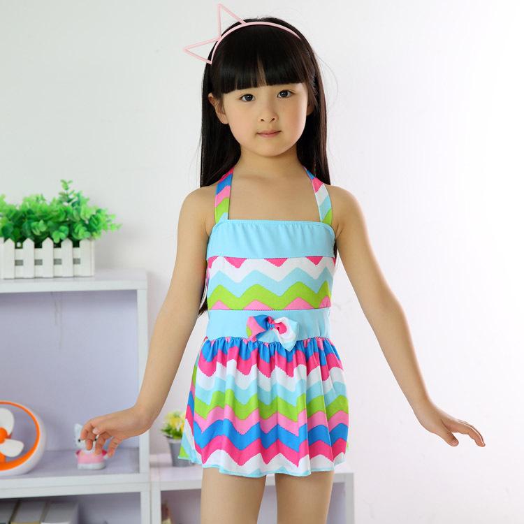 Children-Bikini-Beachwear-Kid-s-Bowknot-Swimsuit-Baby ...