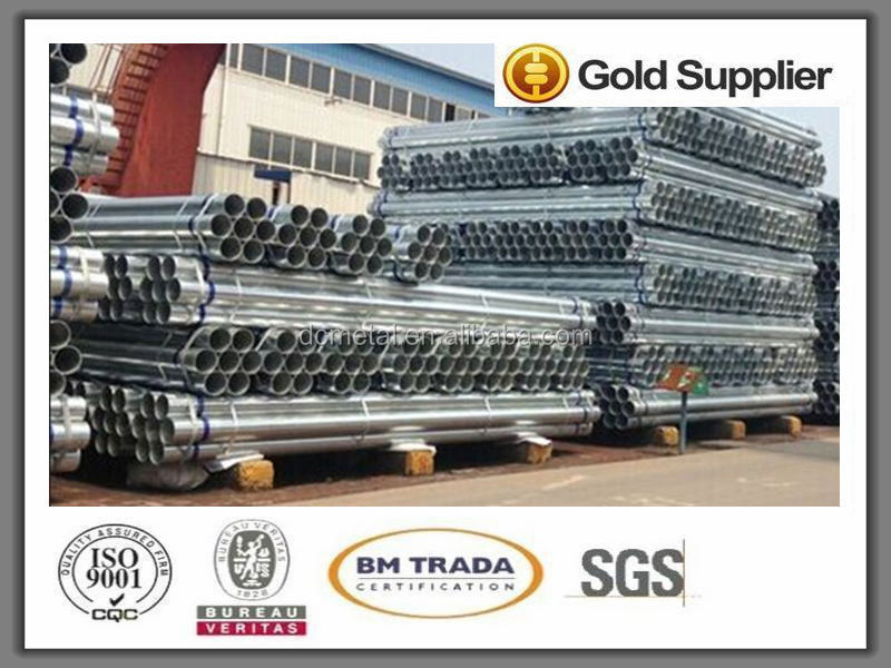 Picture of g.i. or galvanized round steel pipe tubes