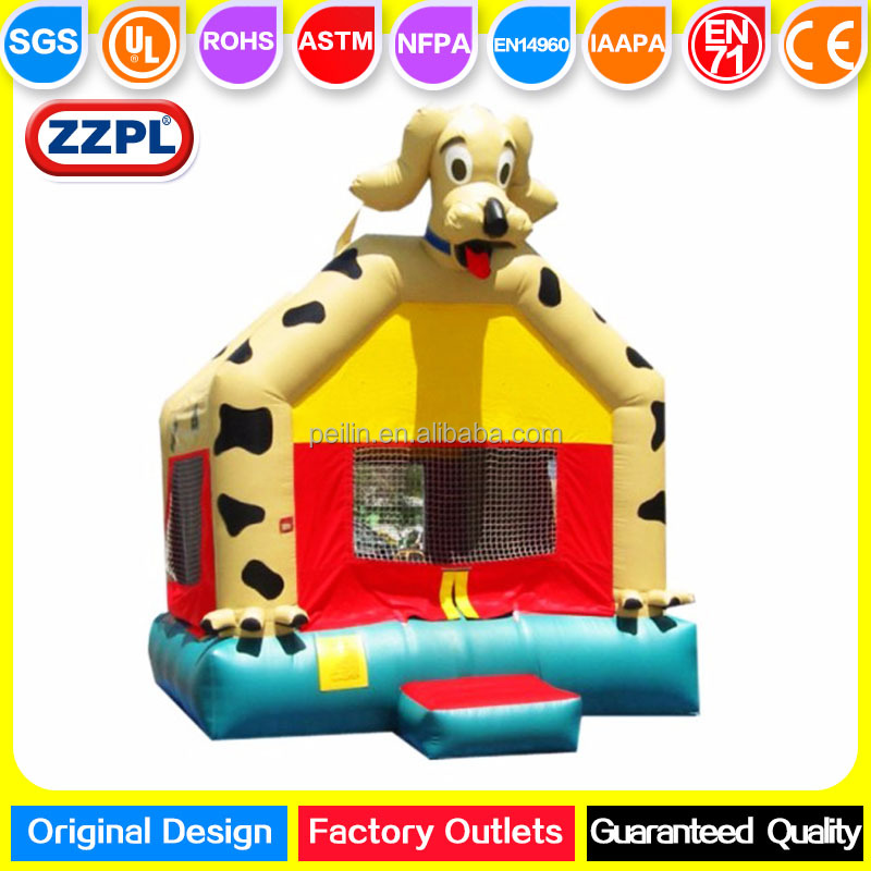 ZZPL Farm fun inflatable dog bounce house, kids backyard bouncy house