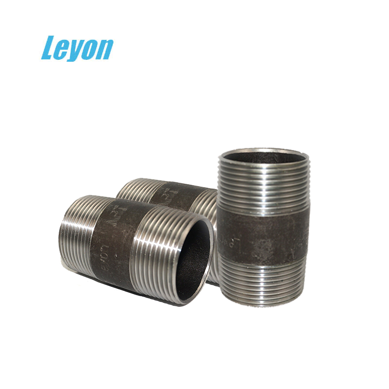 Hydraulic Hose Couplings Forged Concentric Swaged Nipple Bs En 10241 Galvanized Steel Barrel Nipples