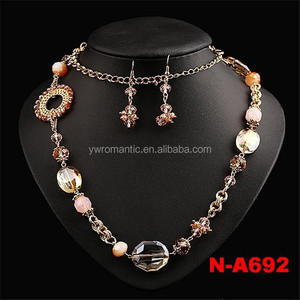 Wholesale new fashion beaded 18 karat gold jewelry sets