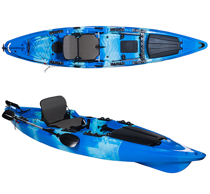 JFM China Sit Top Kayak, Plastic Fishing Kayak with Pedals