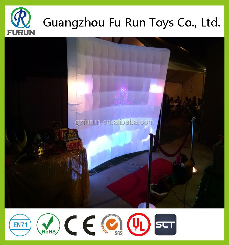 Led inflatable backdrop for photo booth