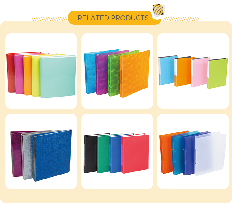 PVC Coating Cardboard A4 Decorative Lever Arch File For Students
