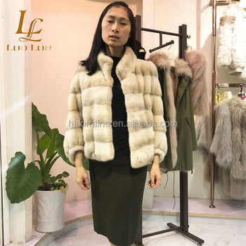 New Women Real Mink Fur Coats Whole Warm Mink Fur Jacket For Female Long Style cross fur mink