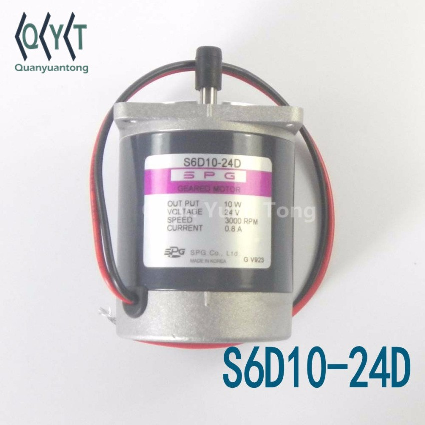 New Electronic Components SPG Geared Motor 10W S6D10-24D