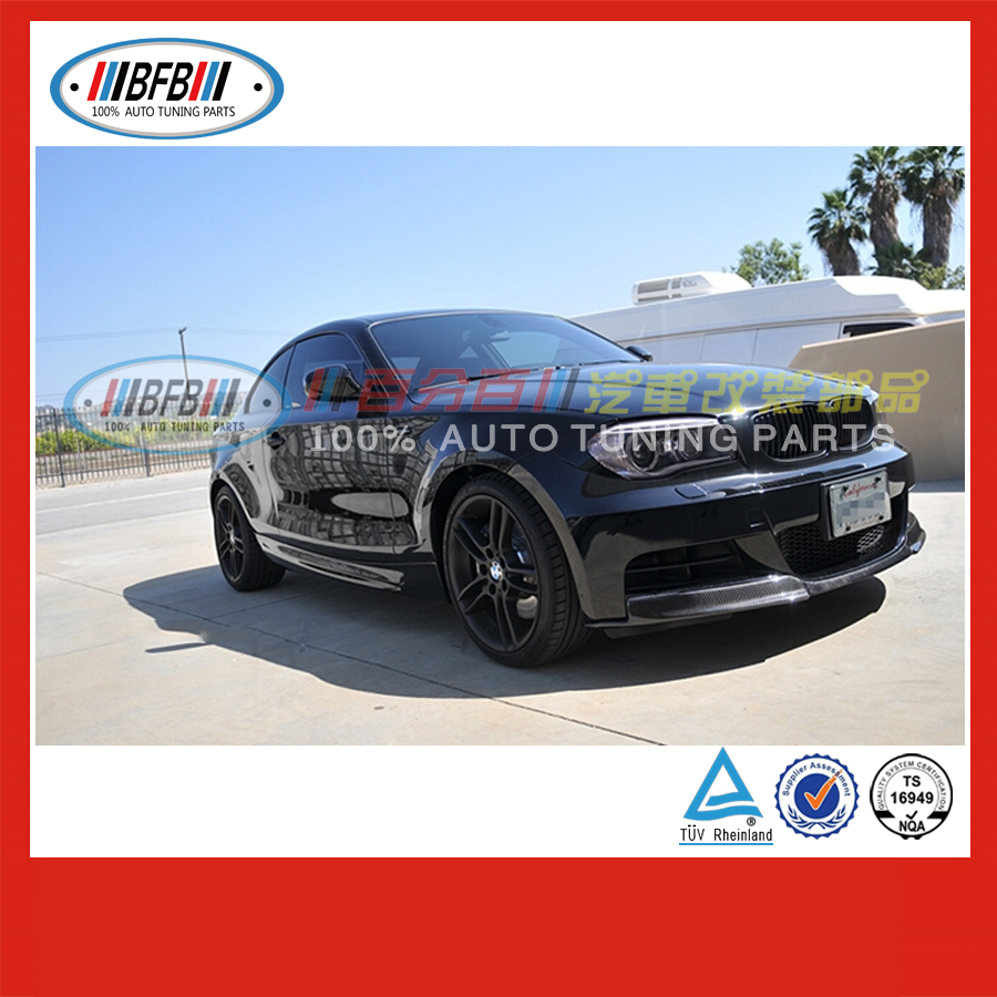 front bumper guard FOR BMW 1 Series E82 120i 125i 135i 2007-2013 front lip carbon selling