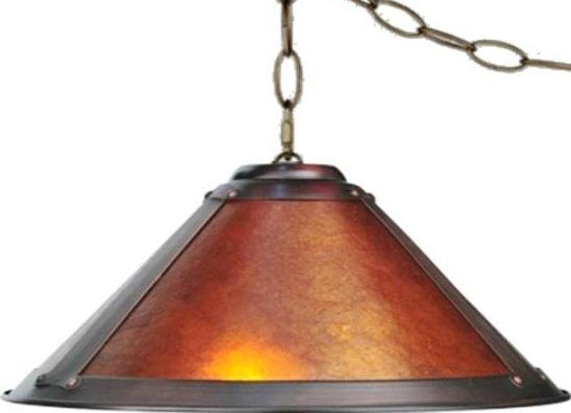 Mica Swag Lamp Pendant Light Art Deco Rustic Vintage Arts Crafts ...