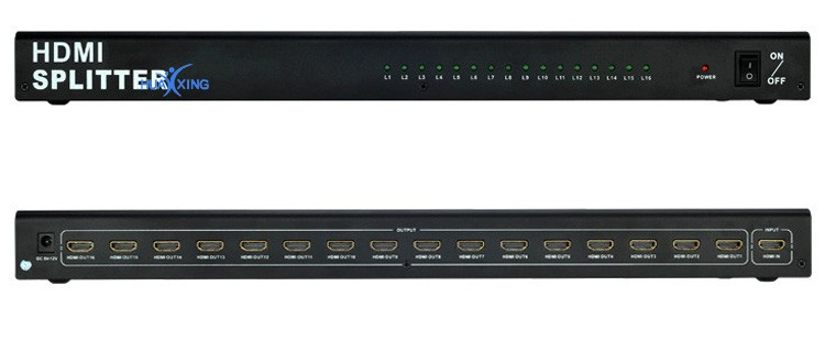 Seamless 1 HDMI in 16 HDMI out 16 Ways HDMI Splitter 1 to 16 Support 3D 4K