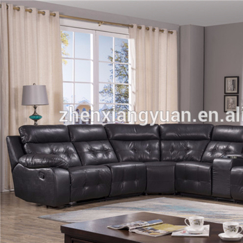 2018 Living Room Luxury Furniture Reclining Corner Sofa With ...
