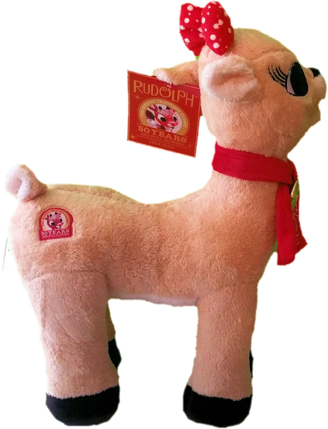 """Large 50th Anniversary (1964-2014) Clarice from Rudolph The Red-Nosed Reindeer 20"""" Plush Stuffed Animal"""