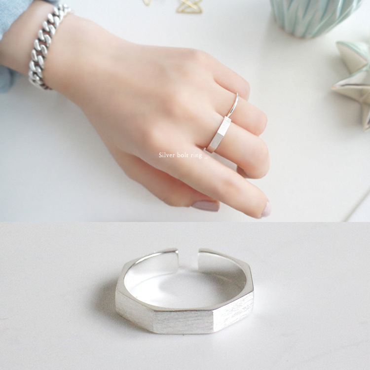 925 Sterling Silver Nut Shaped Ring Inlay Diamond Silver Ring