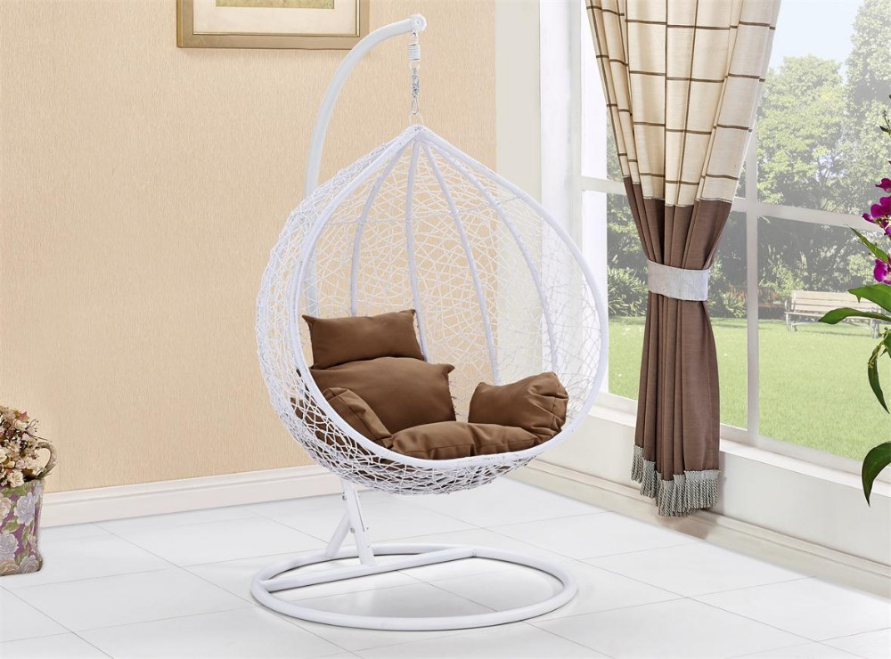 Brand new Balcony Round Rattan Bird Nest Wicker Cocoon Egg Shapped Hanging  QD46