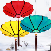 Hanging Chinese Silk Fabric Lanterns for Home Decoration