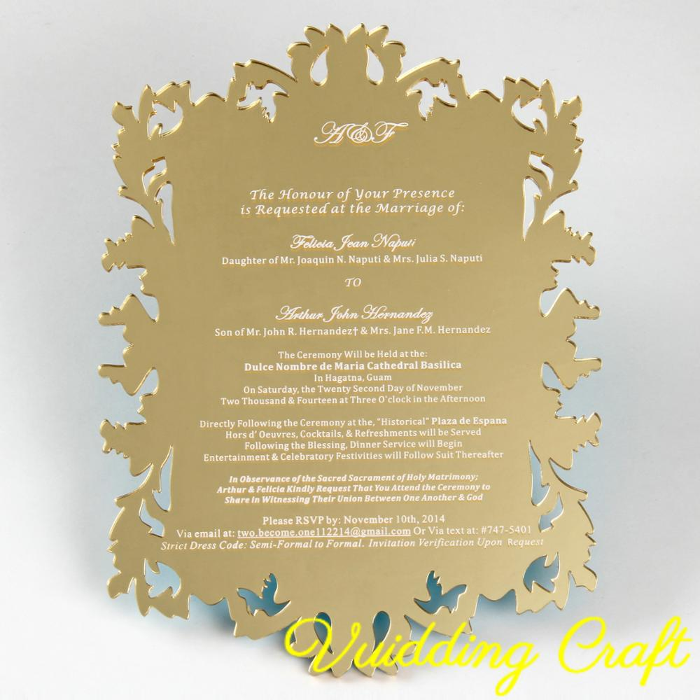 Wedding Invitation Mirror Acrylic Cards For Event Keepsake Buy Mirror Acrylic Card Unique Wedding Invitation Cards Chinese Wedding Invitation Card