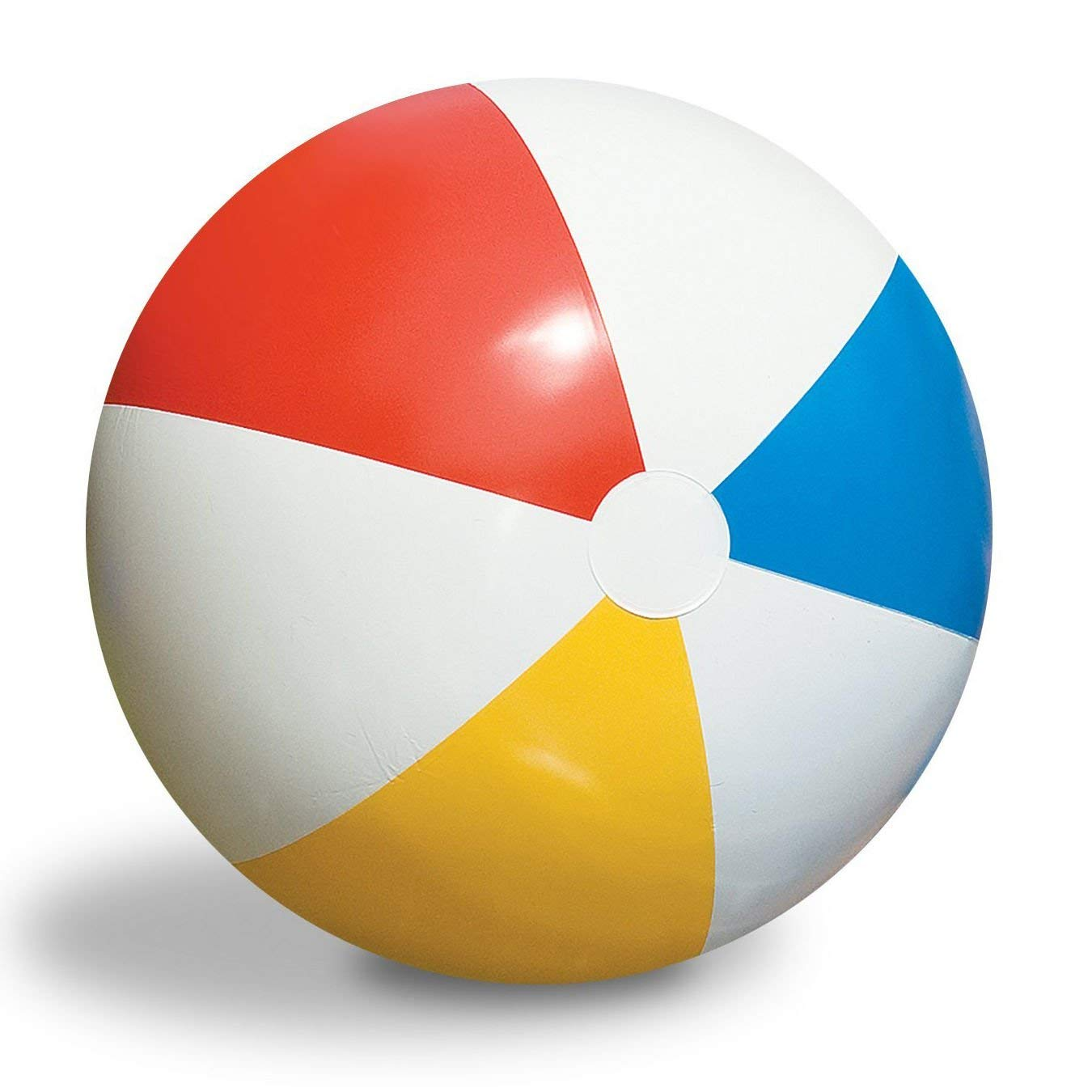 WALLER PAA Inflatable 36-Inch Classic Rainbow Beach Ball For Pool/Lake