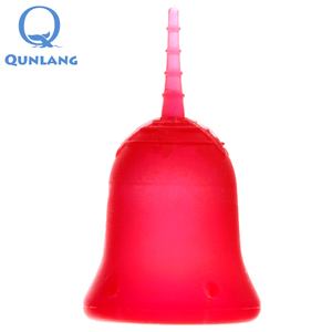 Good quality reusable medical silicone menstrual cups sizes