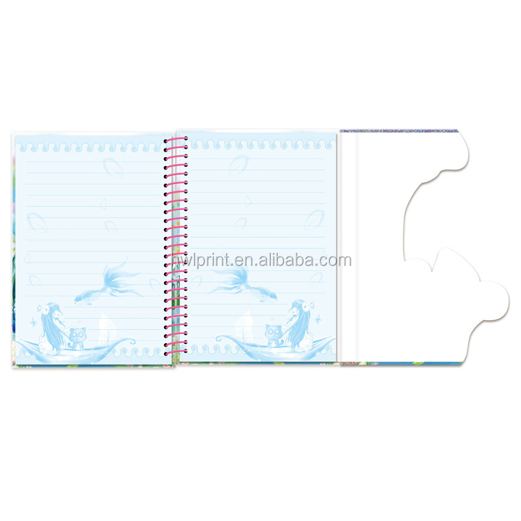 double wire bound notebook Paper cover note pad journal kids Paper magnetic cover school notebook