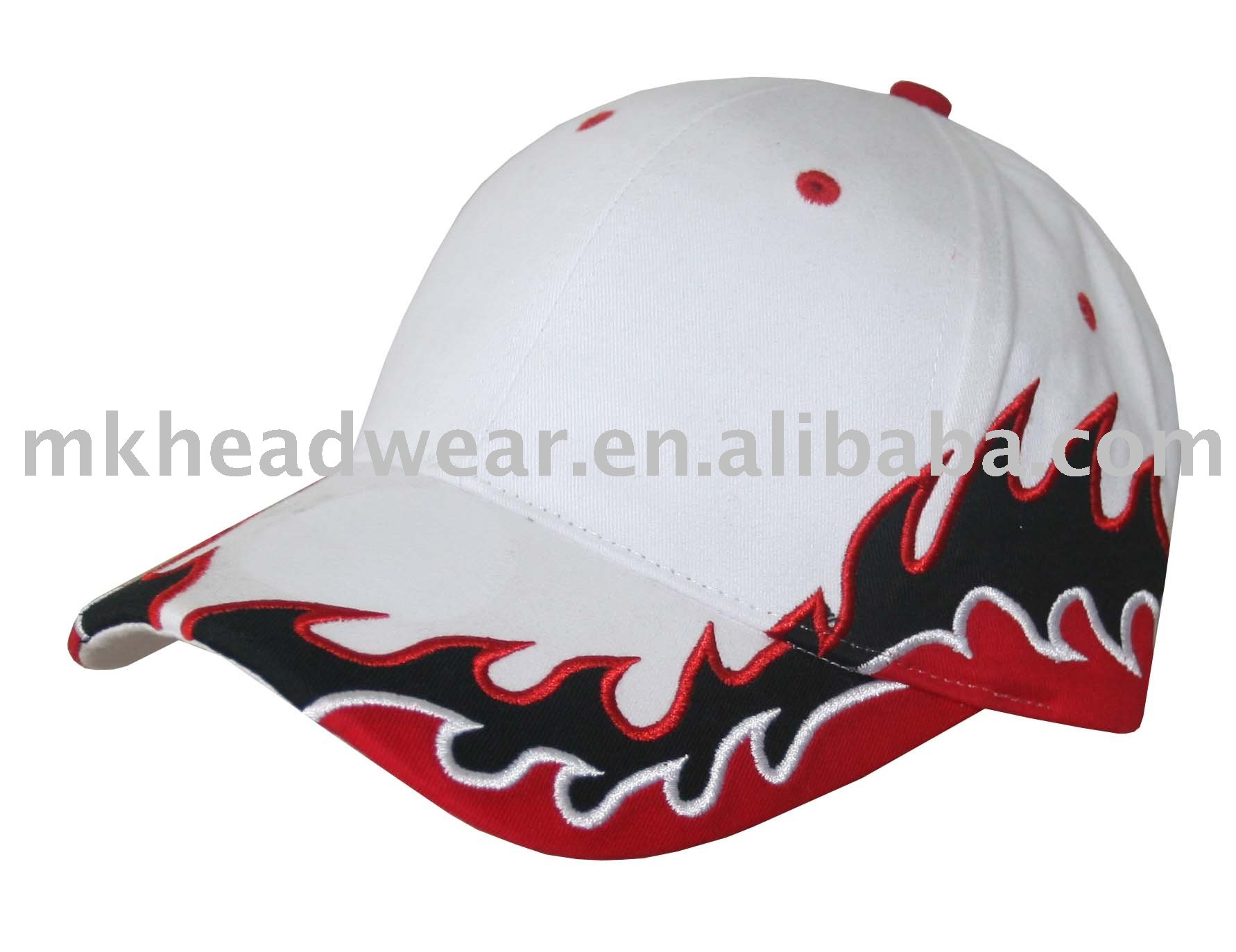 character cotton flaming embroidery basebal cap
